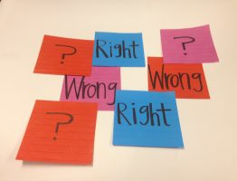 The age old question of Right vs. Wrong.
