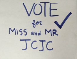Go out and vote for Mr. and Miss JCJC this year.