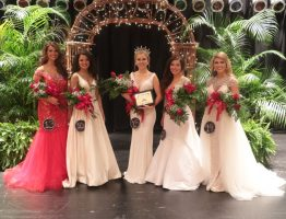 The top five in the 2016 JCJC beauty Pageant.