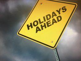 Warning, holidays ahead.