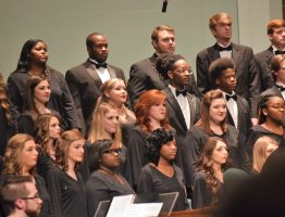 The JCJC Concert Choir preforming this past December 4th.